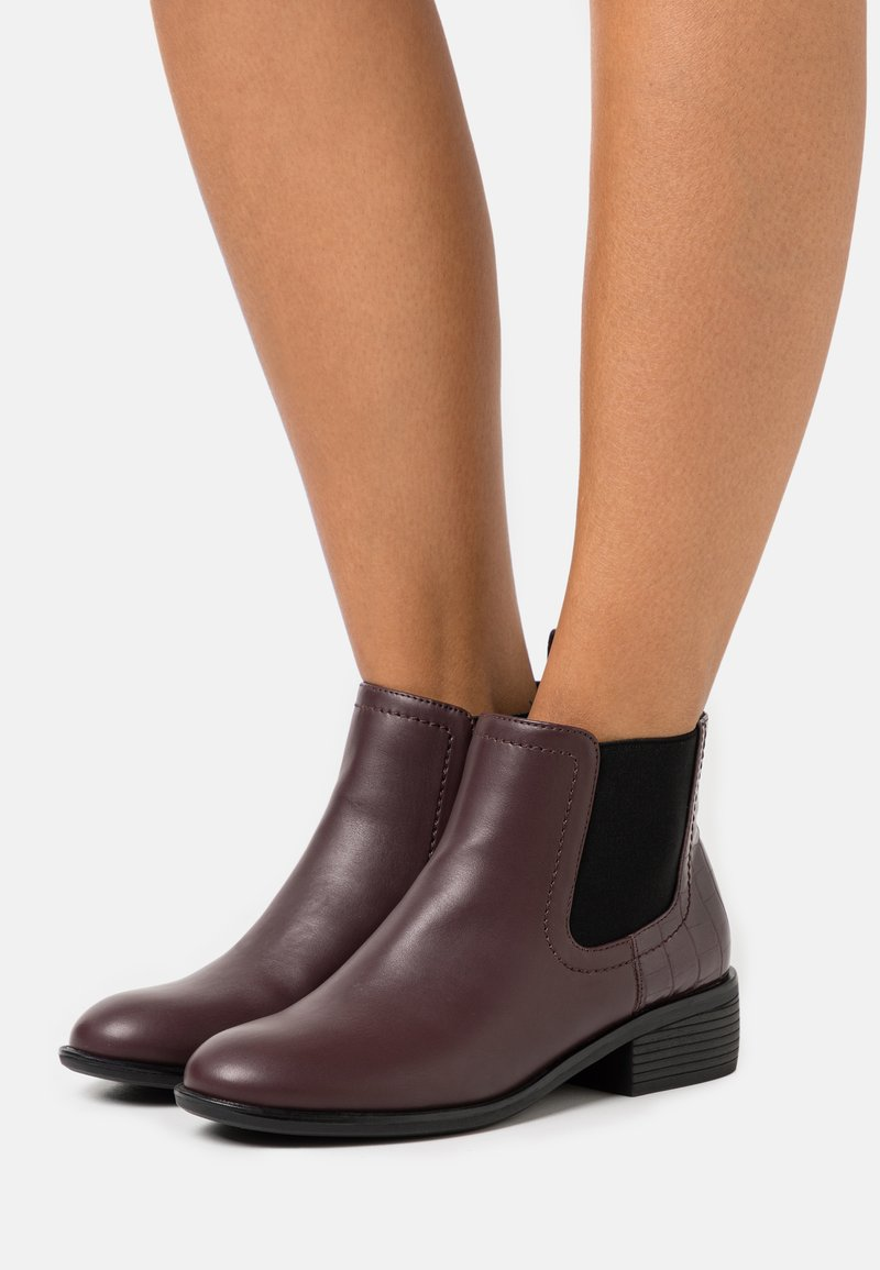Dorothy Perkins - MAPLE CHELSEA - Ankle boots - burgundy