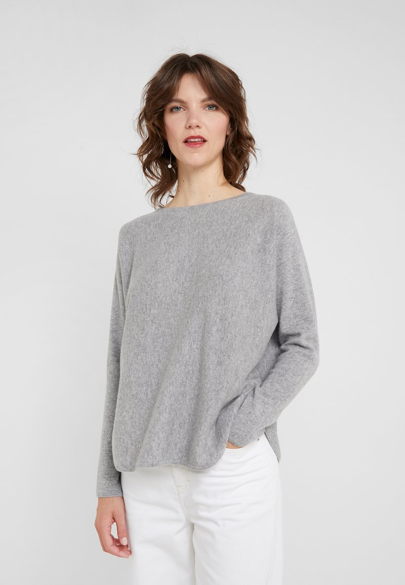 Davida Cashmere - CURVED - Jumper - light grey