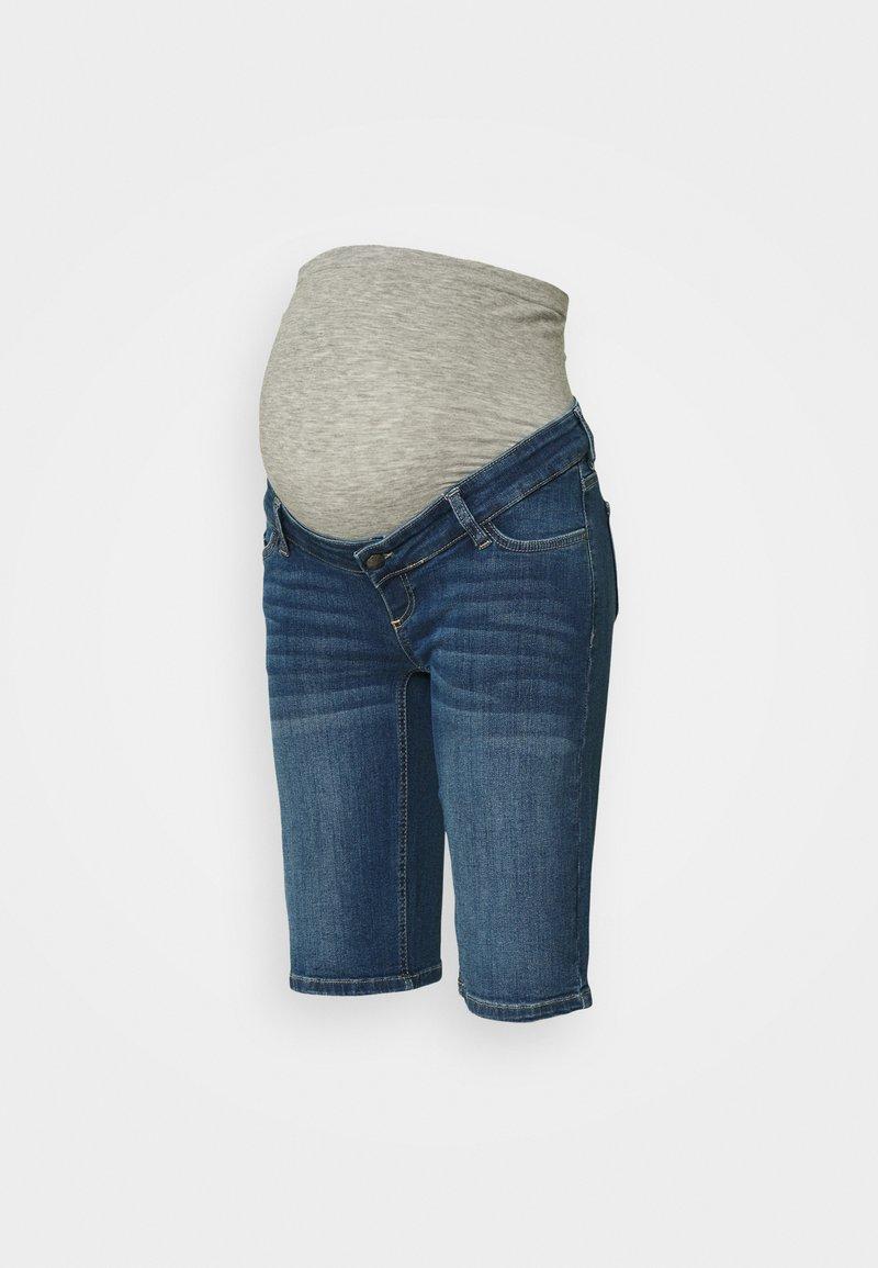 MAMALICIOUS - MLFERA ORGANIC CITY - Denim shorts - medium blue denim