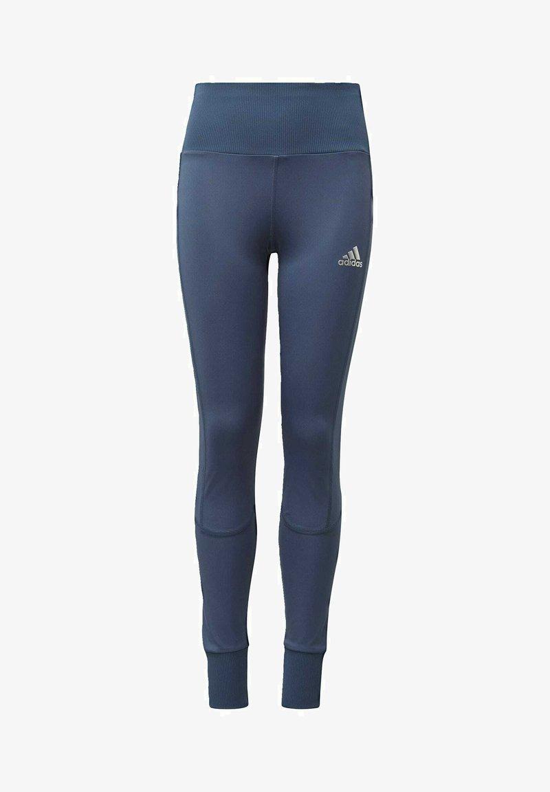 adidas Performance - AEROREADY HIGH-RISE COMFORT WORKOUT YOGA LEGGINGS - Collants - blue