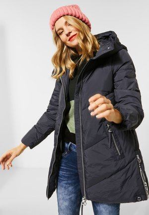 MIT STEHKRAGEN - Winter coat - blau