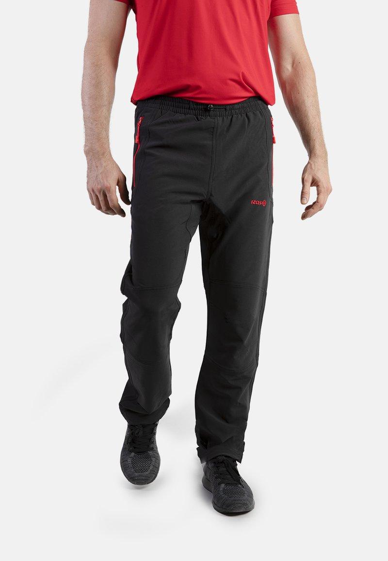 IZAS - CLOISTER - Pantalons outdoor - black/red