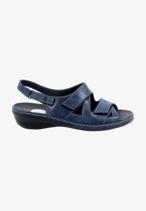 Sandalen met sleehak - blue
