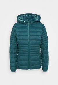 WOMAN JACKET SNAPS HOOD - Winter jacket - petrolio