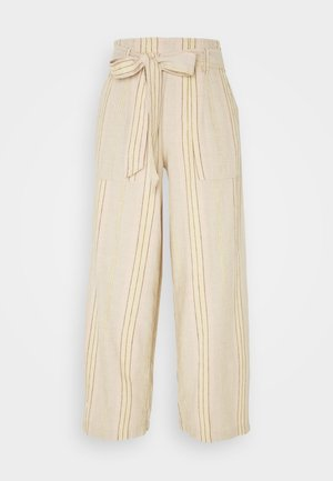 CHAIN STRIPE PANT - Bukse - tan