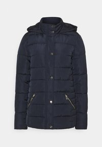 Dorothy Perkins Tall - GLOSSY HOODED JACKET - Talvitakki - navy - 4