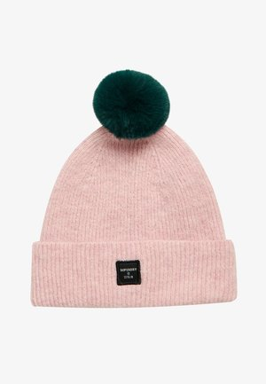 Beanie - nappa pink/rich boston green