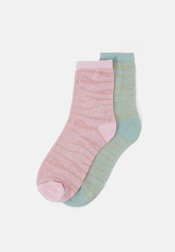 MIX SOCK 2 PACK - Socks - light green/rose