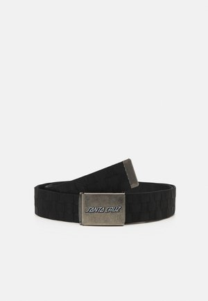 CLASSIC STRIP CHECK BELT UNISEX - Belt - black