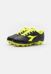 Diadora - PICHICHI 3 MD JR UNISEX - Moulded stud football boots - black/fluo yellow - 1