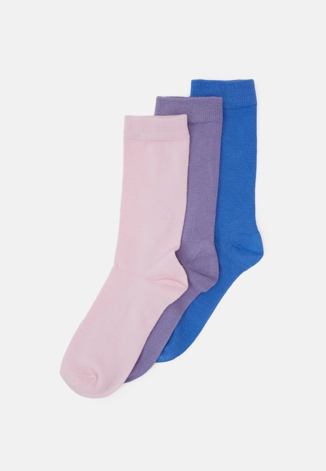 BAMBOO PLAIN SOCKS 3 PACK - Strumpor - multi-coloured