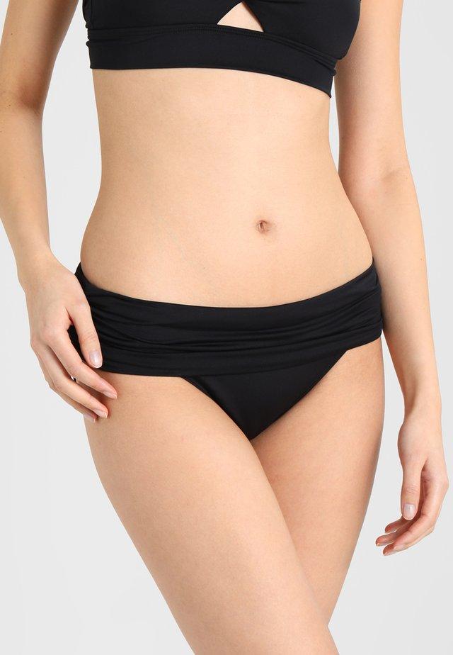 WIDE SHIRRED BANDED HIPSTER - Bikini pezzo sotto - black