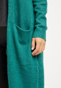 Vila - VIRIL LONG CARDIGAN  - Cardigan - petrol - 3