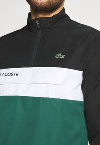 Lacoste Sport - TRACKSUIT - Trainingspak - black/bottle green - 6