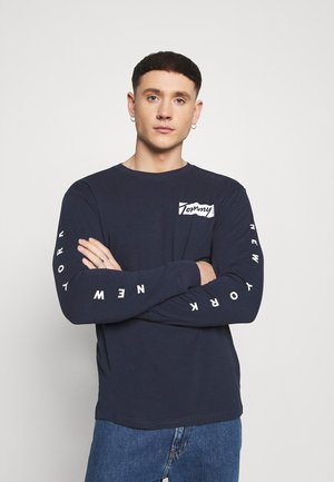 LONGSLEEVE SCRIPT BOX TEE - Long sleeved top - twilight navy