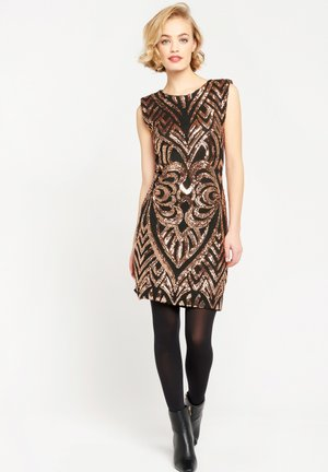 WITH SEQUINS PATTERN - Cocktail dress / Party dress - copper