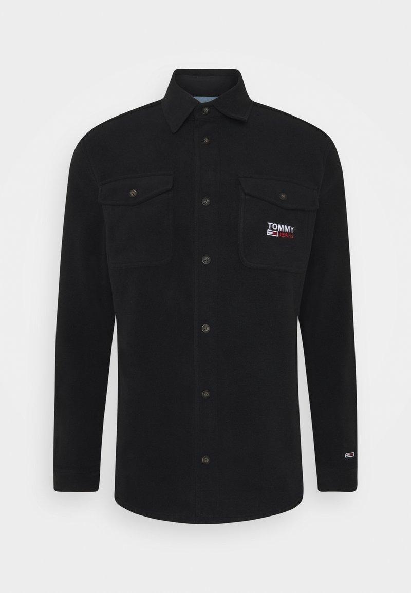 Tommy Jeans - POLAR UNISEX - Button-down blouse - black