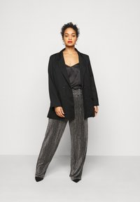 Missguided Plus - DOUBLE BREASTED - Blazer - black - 1