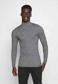Pier One - MUSCLE FIT TURTLE - Pullover - mottled grey - 0