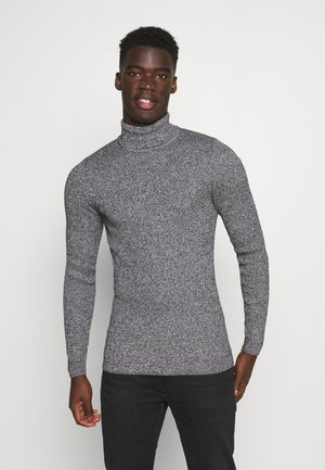 MUSCLE FIT TURTLE - Jumper - mottled grey