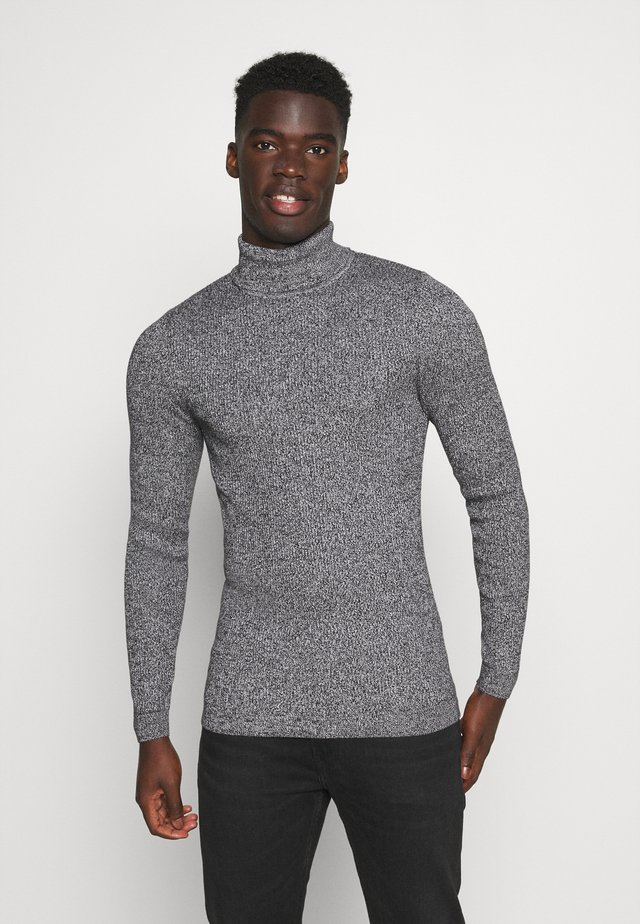 MUSCLE FIT TURTLE - Neule - mottled grey