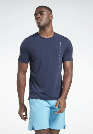 ACTIVCHILL MOVE T-SHIRT - T-shirt z nadrukiem - blue
