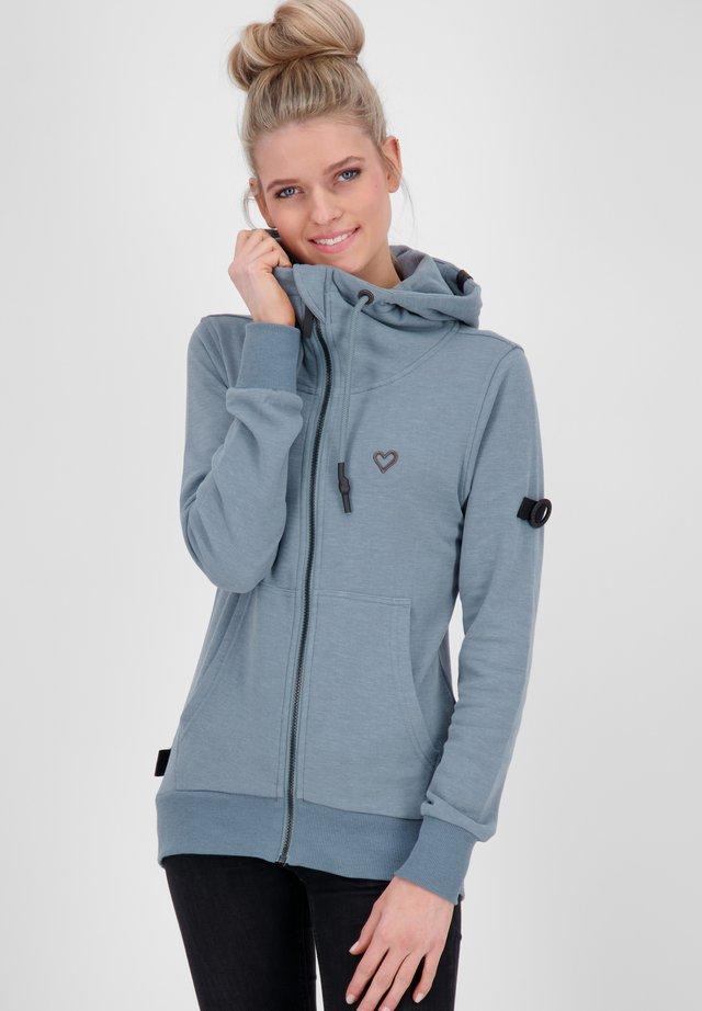 veste en sweat zippée - steel