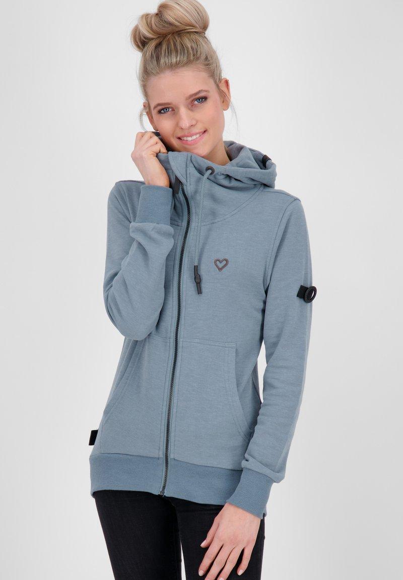 alife & kickin - Zip-up hoodie - steel