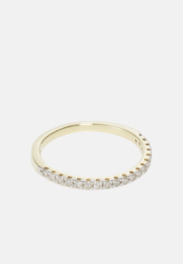 9KT YELLOW GOLD 0.22CT CERTIFIED DIAMOND HALF ETERNITY RING - Bague - gold
