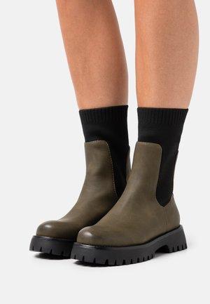 VEGAN KELSEYY - Platform boots - khaki