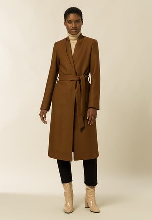 DOUBLE COLLAR COAT - Classic coat - gingerbread