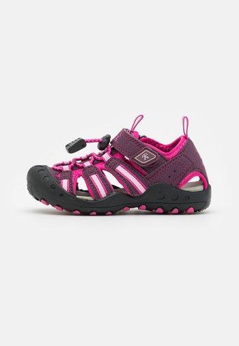 CRAB UNISEX - Walking sandals - plum/prune