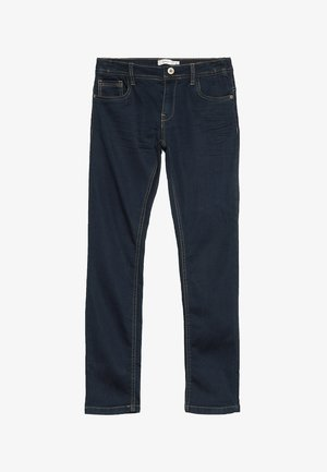 NKMROBIN DNMTHAYER PANT - Vaqueros slim fit - dark blue denim
