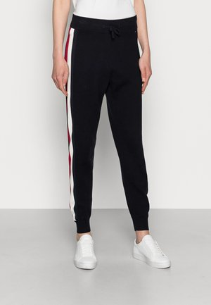 GLOBAL STRIPE JOGGER PANTS - Spodnie treningowe - blue