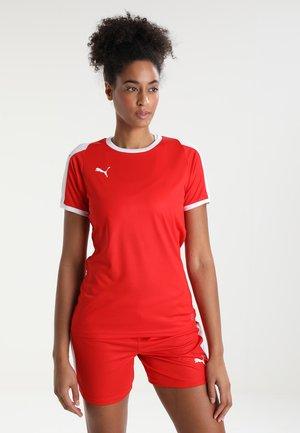 LIGA - Print T-shirt - red/white
