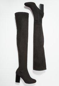Even&Odd - Kozačky na vysokém podpatku - black - 3
