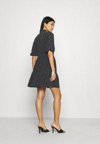 Closet - GATHERED DRESS - Shirt dress - black - 2