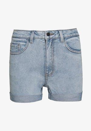 OBJANNA - Szorty jeansowe - light blue denim