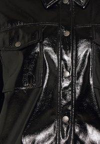 Noisy May - NMCRINKEL SHORT JACKET - Faux leather jacket - black - 2