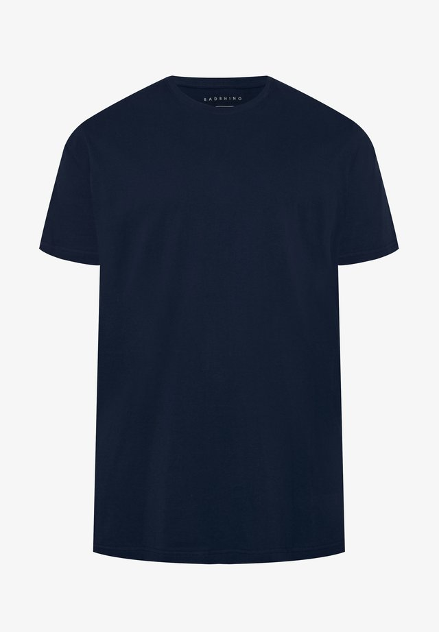 NAVY EMBROIDERED LOGO - Basic T-shirt - blue