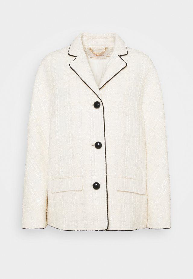 PLAID JACKET - Summer jacket - new ivory