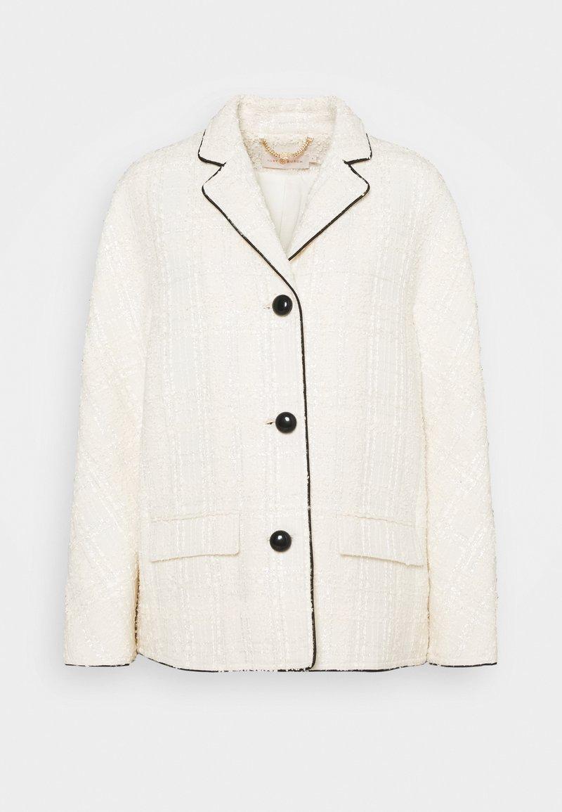 Tory Burch - PLAID JACKET - Summer jacket - new ivory