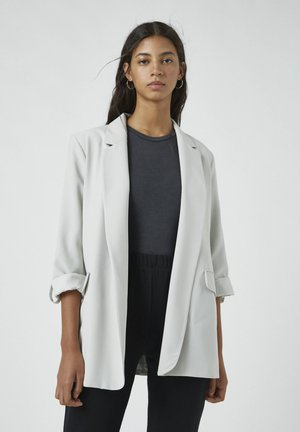 Manteau court - mottled light grey