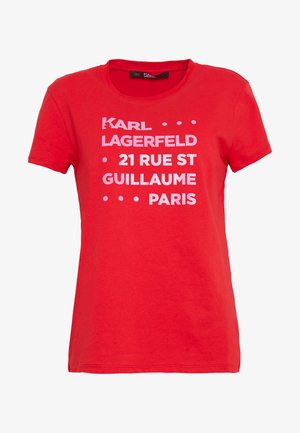 STACKED LOGO ADRESS  - T-shirt con stampa - red