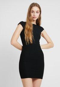 ONLY - ONLPABLO CAPSLEEVE DRESS - Shift dress - black - 0