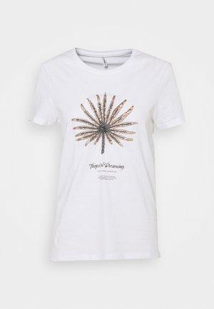 ONLKITA LIFE BOX  - Print T-shirt - bright white