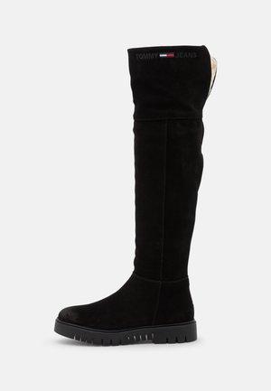WARMLINED LONGBOOT - Overknees - black