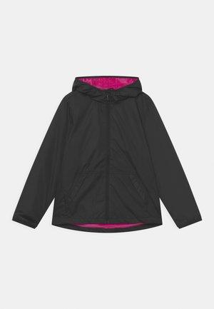 TEEN RAIN SOLID - Waterproof jacket - caviar