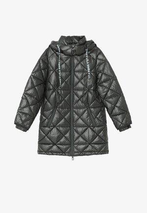 Down coat - black