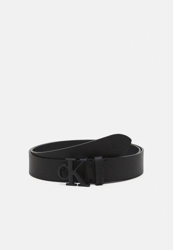 ROUNDED MONO PLAQUE BELT  - Belt - black